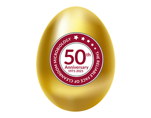 Golden Easter Egg with 50th Logo