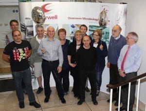 Cherwell Laboratories team celebrating 45 year anniversary