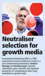 factors to consider choosing neutralisers for growth media