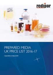 redipor prepared media 2016 price list