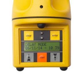 SAS microbial air sampler for environmental monitoring with delay start