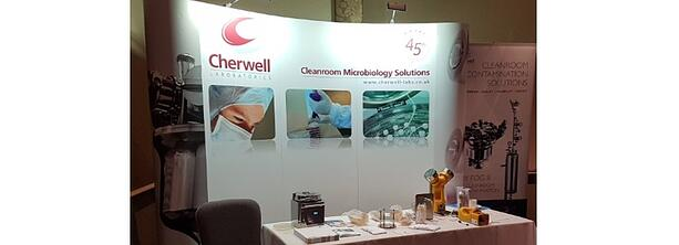 Cherwell stand at PHSS conference demonstrating environmental monitoring products
